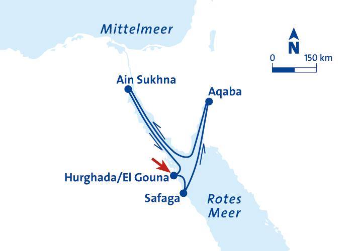Vor Anker bei den Pharaonen - 8 Tage Kreuzfahrt im Roten Meer inkl ...